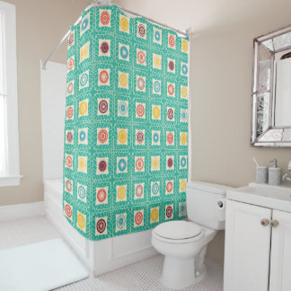 Mandala Dots Shower Curtain