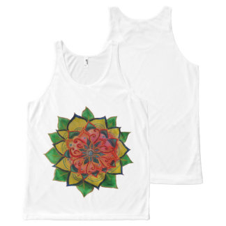 Mandala drawing Unisex Tank