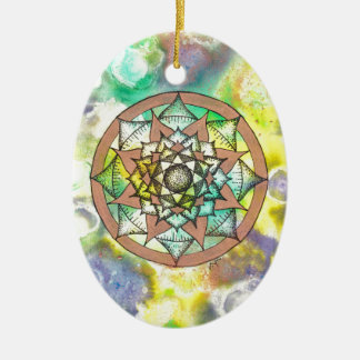 Mandala Dream Ceramic Oval Decoration