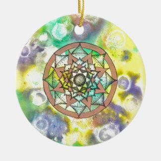 Mandala Dream Round Ceramic Decoration