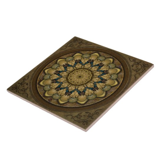 Mandala Earth Shell Tile