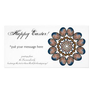 Mandala Easter Eggs Customised Photo Card