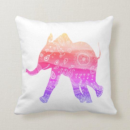 Mandala Elephant Art Throw Cushion 41 x 41
