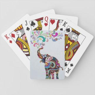 Mandala Elephant Playing Cards
