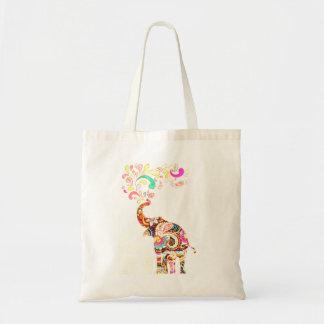 Mandala Elephant Tote Bag