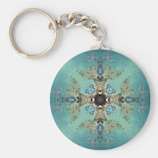 Mandala Fjord Basic Round Button Key Ring
