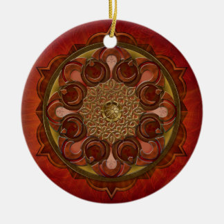 Mandala Flame Ornament