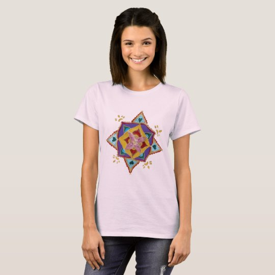 Mandala Floral Pattern Women's Basic T-Shirt