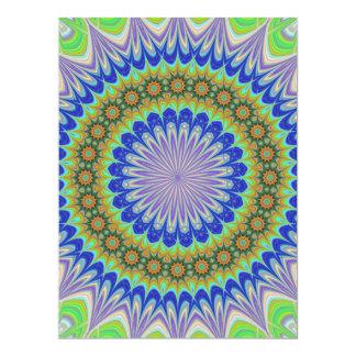 Mandala flower 17 cm x 22 cm invitation card