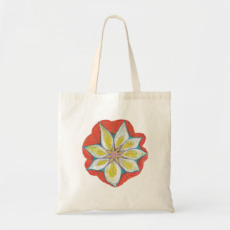 Mandala Flower Budget Tote