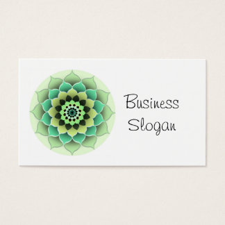 Mandala Flower Connect with Your Customer Business Card