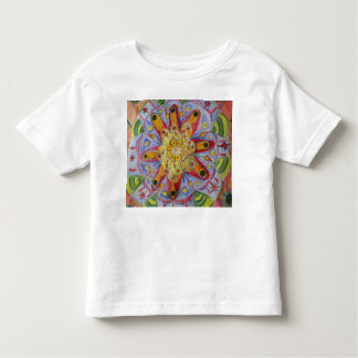 Mandala Flower Drawing Toddler Fine Jersey T-Shirt