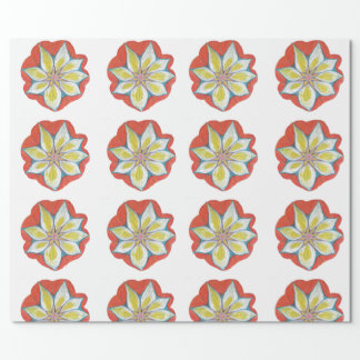 Mandala Flower Drawing Wrapping Paper