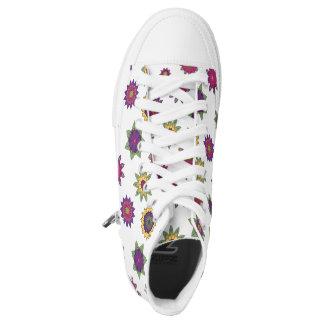 Mandala Flower Garden Custom Sneakers