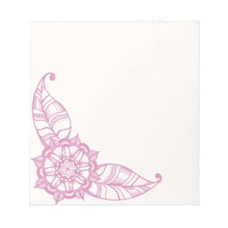 Mandala Flower Notepad in Pink