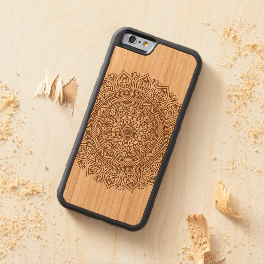 Mandala Flower On Wood I-phone Case