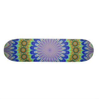 Mandala flower skateboard