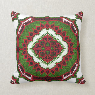 Mandala Folk floral design pattern india pillow
