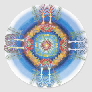 Mandala for the Trees Classic Round Sticker