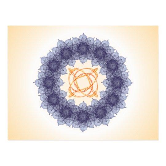 Mandala fractal composition #13 postcard