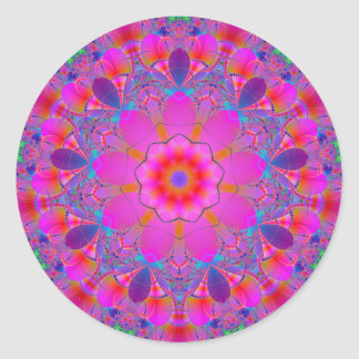 Mandala Fractal hot colors sticker