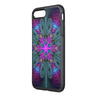 Mandala From Center Colorful Fractal Art With Pink OtterBox Symmetry iPhone 8 Plus/7 Plus Case