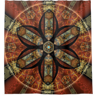 Mandala from the Heart of Change 12 Shower Curtain