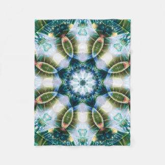 Mandala from the Heart of Change 13 Fleece Blanket