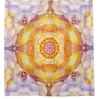 Mandala from the Heart of Change 20 Shower Curtain