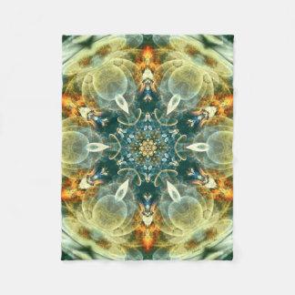 Mandala from the Heart of Change 6 Fleece Blanket