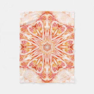 Mandala from the Heart of Change 8 Fleece Blanket