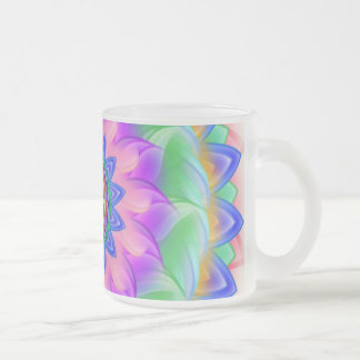 Mandala - frosted glass coffee mug