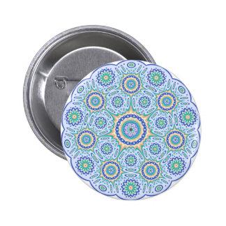 Mandala geometric Standard, 2¼ Inch Round Button