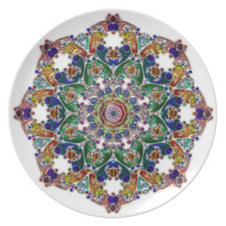 Mandala Glass Effects Collection Plate