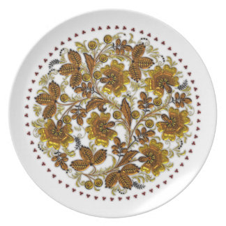 Mandala Glass Melamine Plate