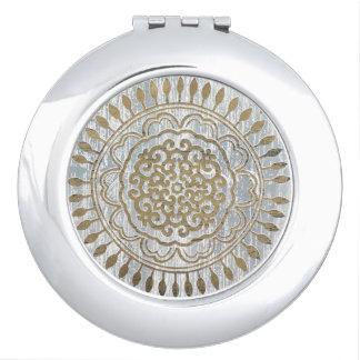Mandala Gold Design Compact Mirror