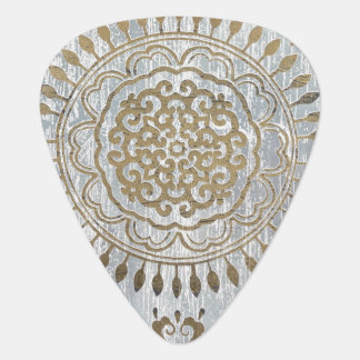 Mandala Gold Design Guitar Pick