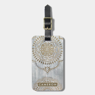 Mandala Gold Design Luggage Tag