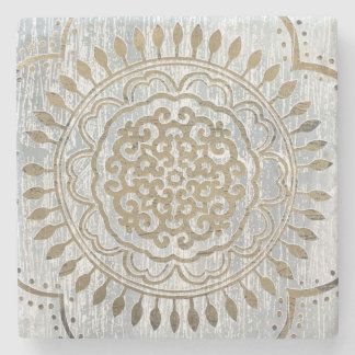 Mandala Gold Design Stone Coaster