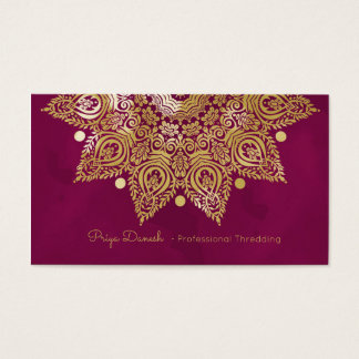 Mandala Gold Foil Business Card