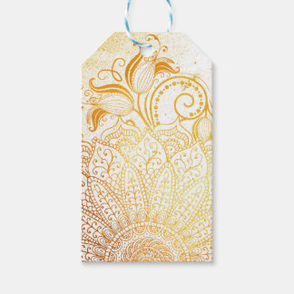 Mandala - Golden brush Gift Tags