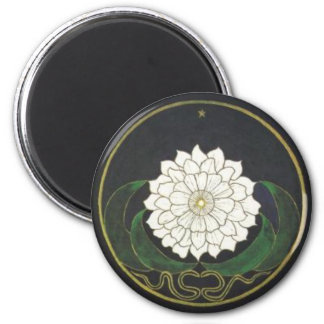 Mandala Golden Flower 6 Cm Round Magnet