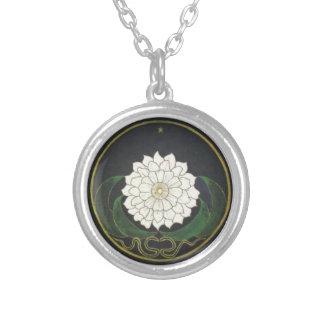 Mandala Golden Flower Silver Plated Necklace