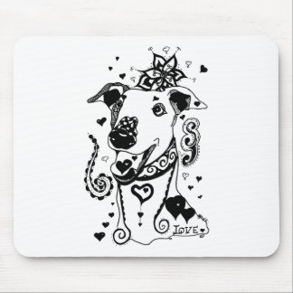 Mandala Greyhound Mouse Mat
