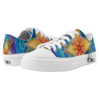 Mandala Hand painted Custom Zipz Low Top Shoes Printed Shoes