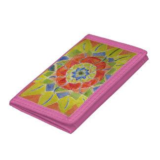 Mandala hand painted design  Wallet