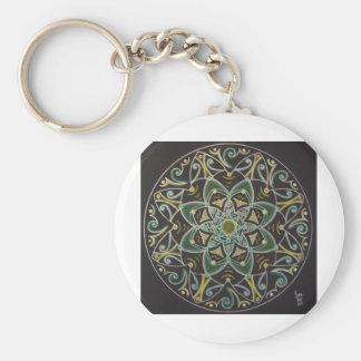 Mandala Healing energyflow Basic Round Button Key Ring