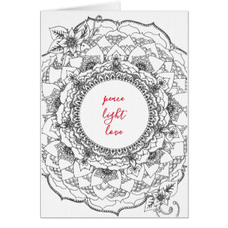 Mandala Holiday Card