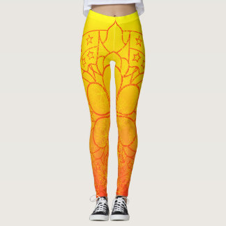 Mandala Horizon Star Pattern Legging
