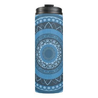 Mandala in Blue Thermal Tumbler